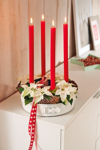 Upcycling: Adventskranz mit Backform